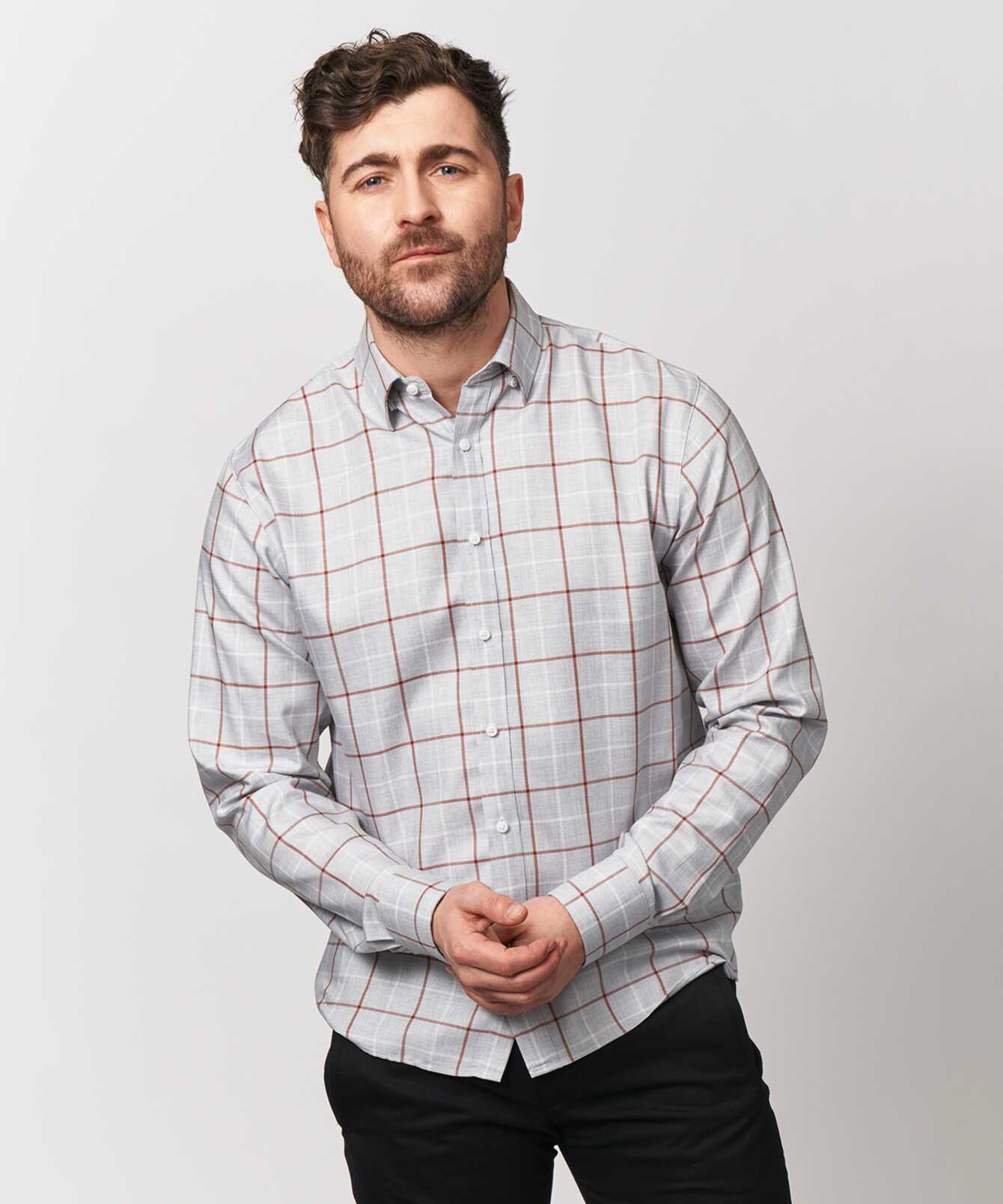Skjorta Lincoln Brun The Shirt Factory