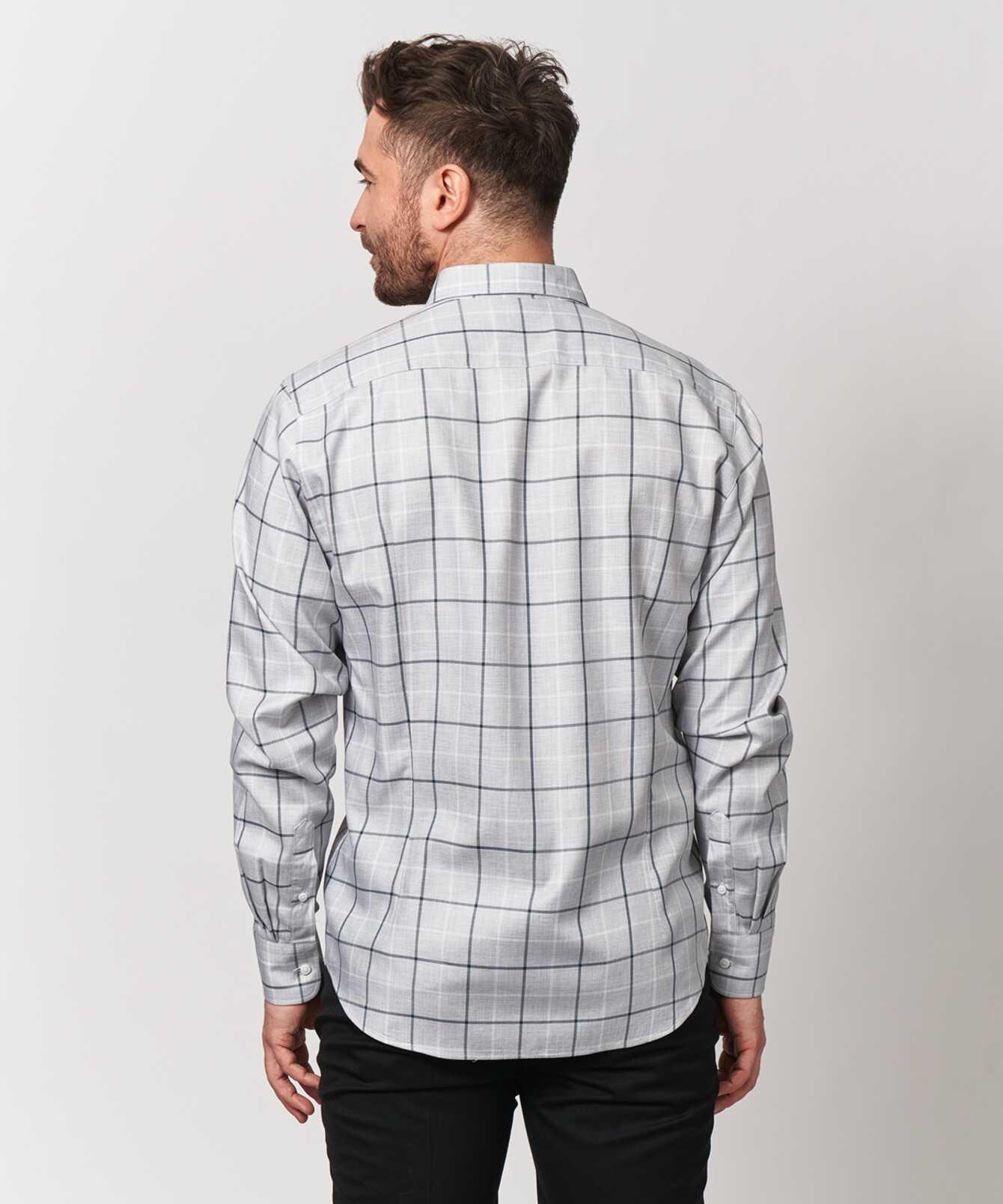 Shirt Lincoln Blå Extra Lång Ärm The Shirt Factory