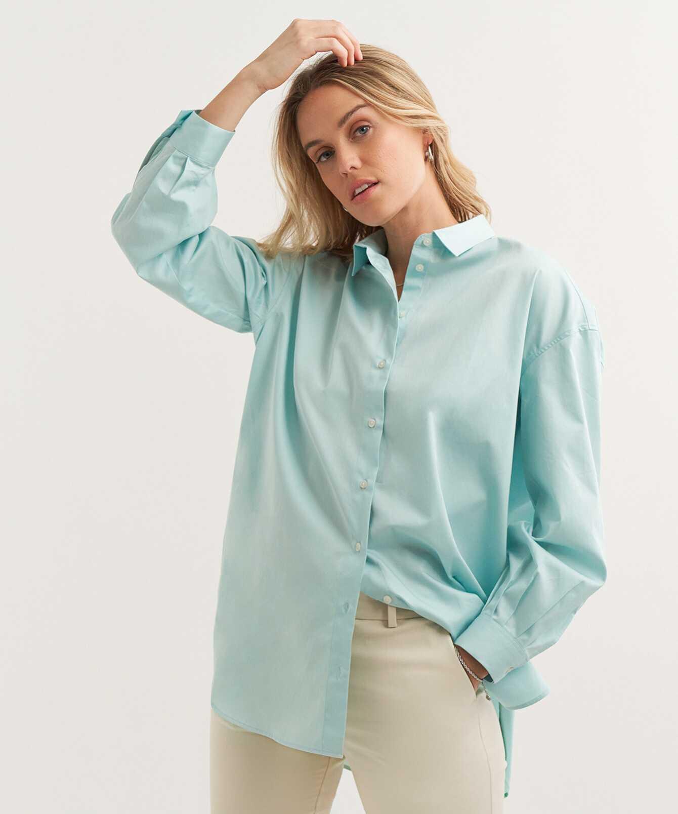 Skjorta Elsa Cotton Poplin Ljusgrön The Shirt Factory