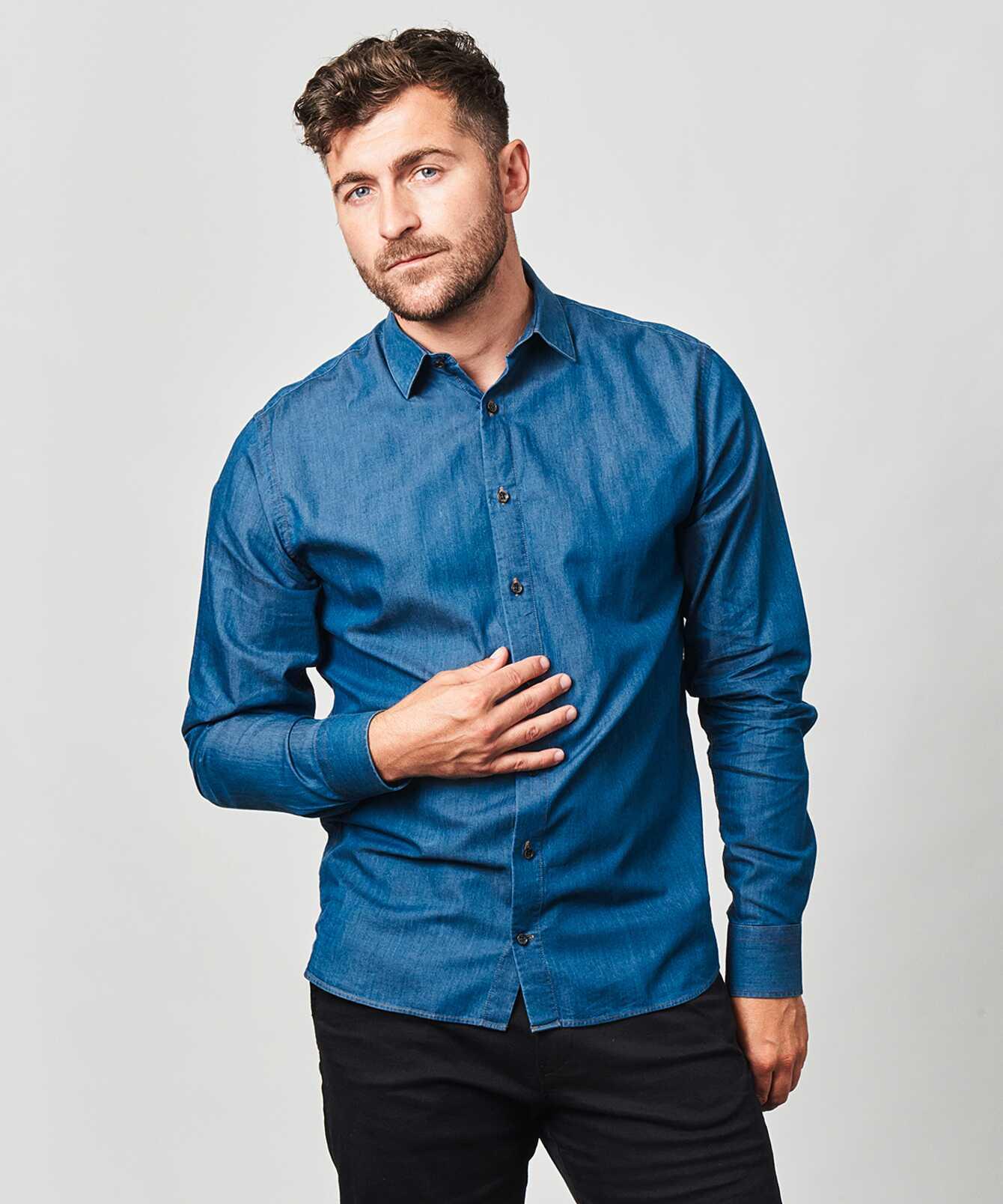 Shirt Brillo Jeans Shirt Dark Details Ex Long The Shirt Factory