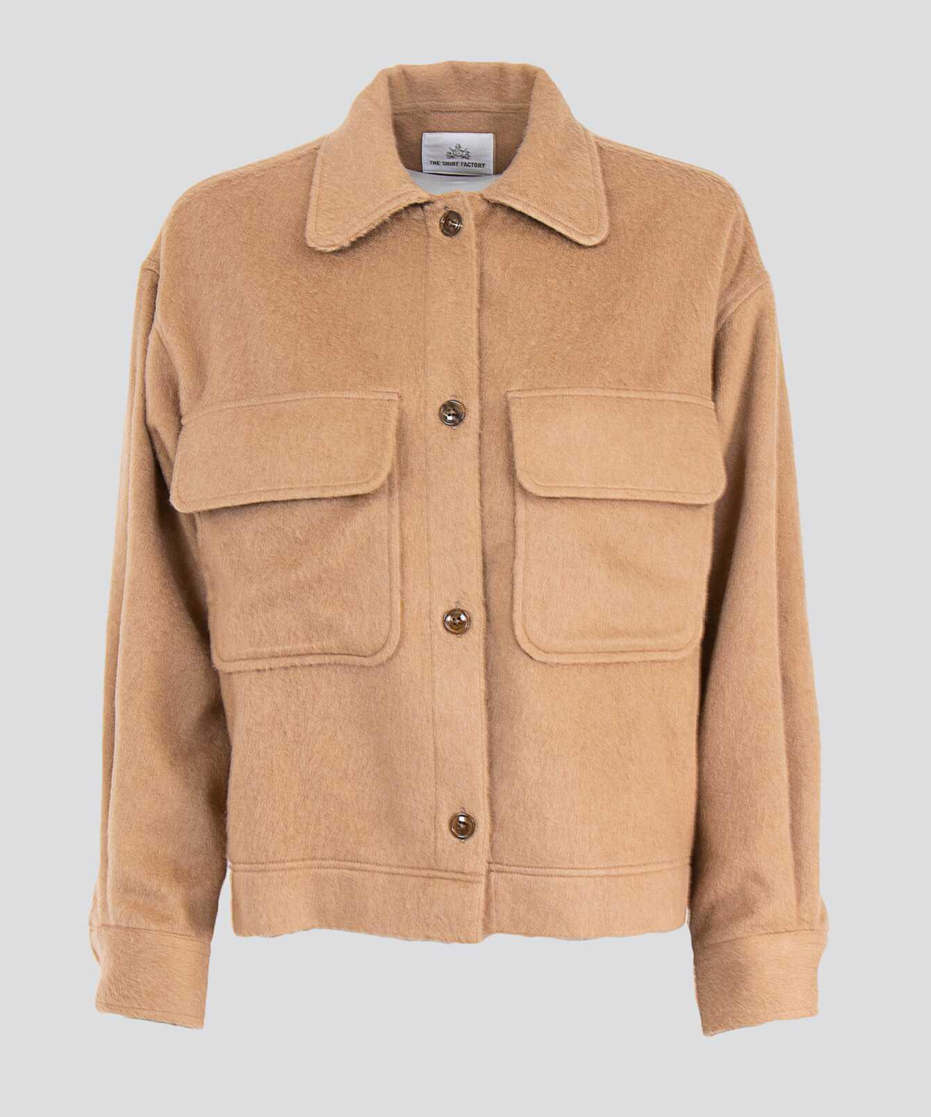Shirt Ada Flannel Overshirt Sand The Shirt Factory