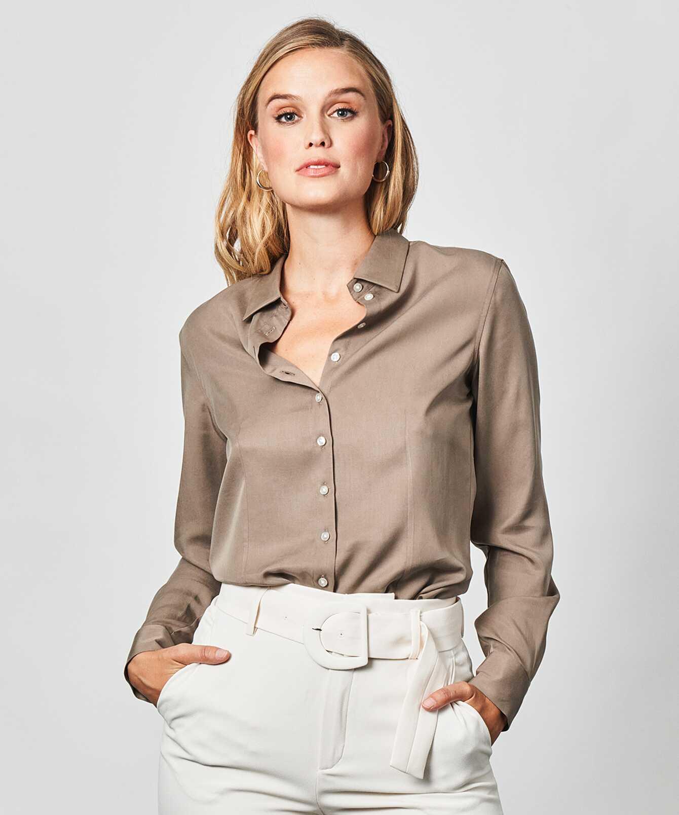 Shirt Tilde Soft Taupe The Shirt Factory