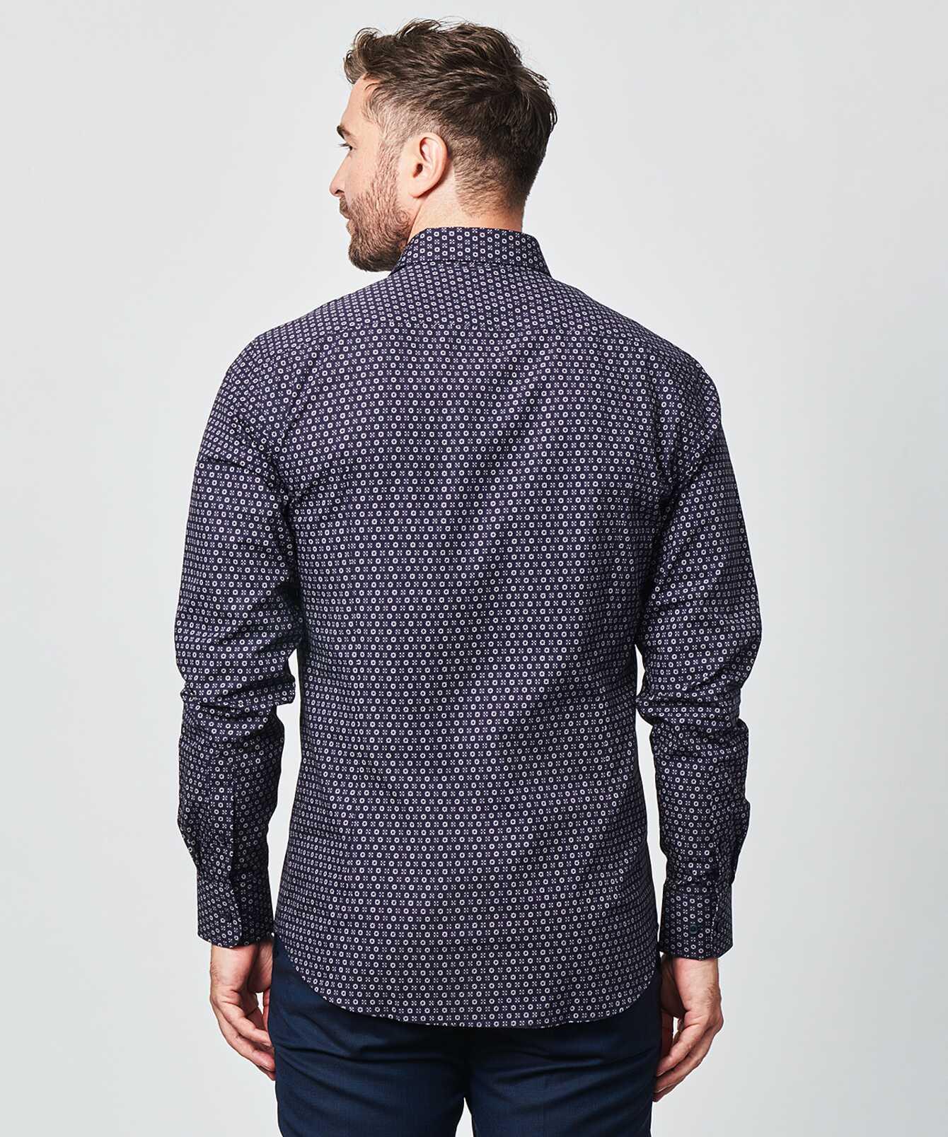 Skjorta Furnas Mörkblå The Shirt Factory