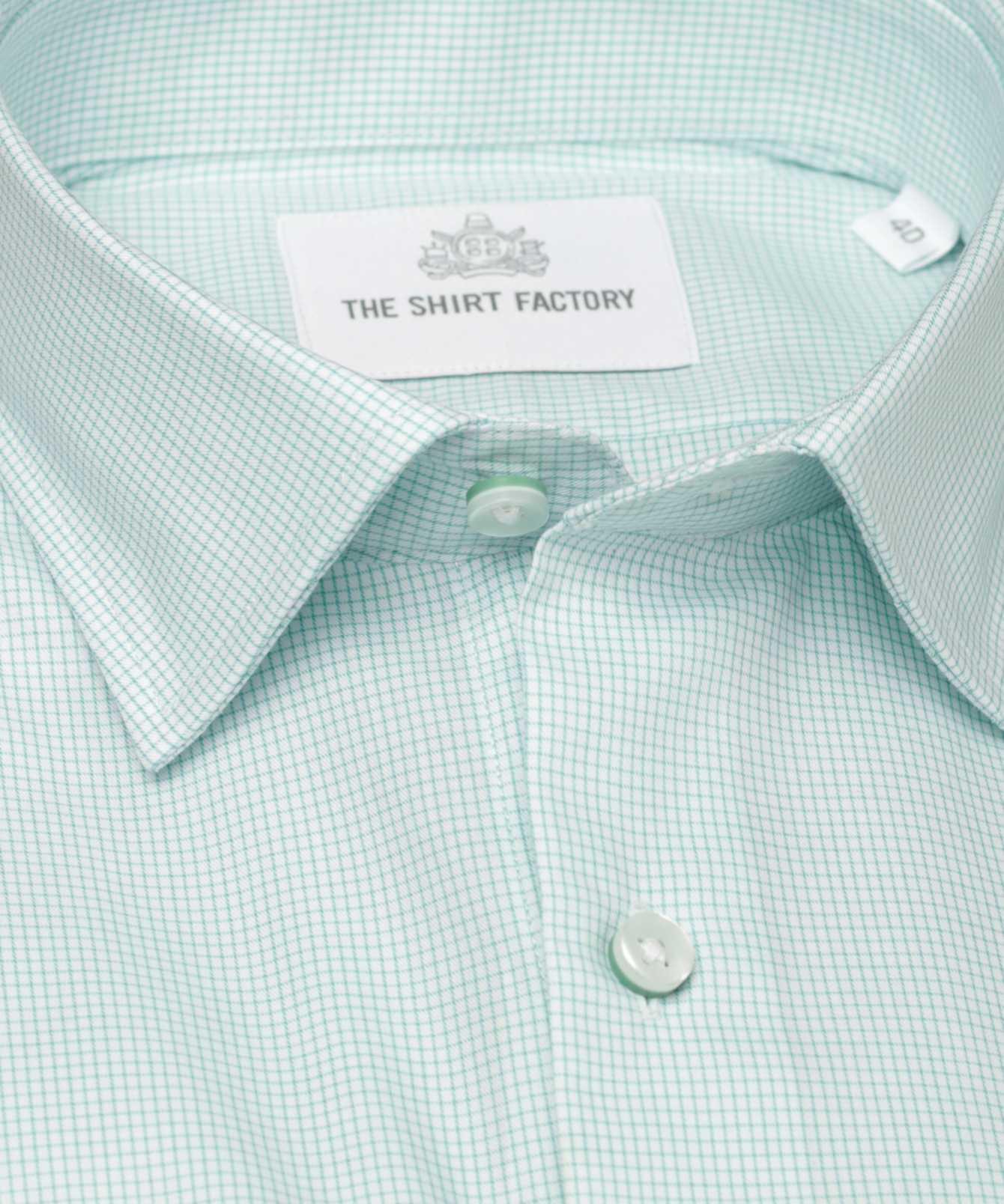 Skjorta Dublin Strykfri Grön The Shirt Factory