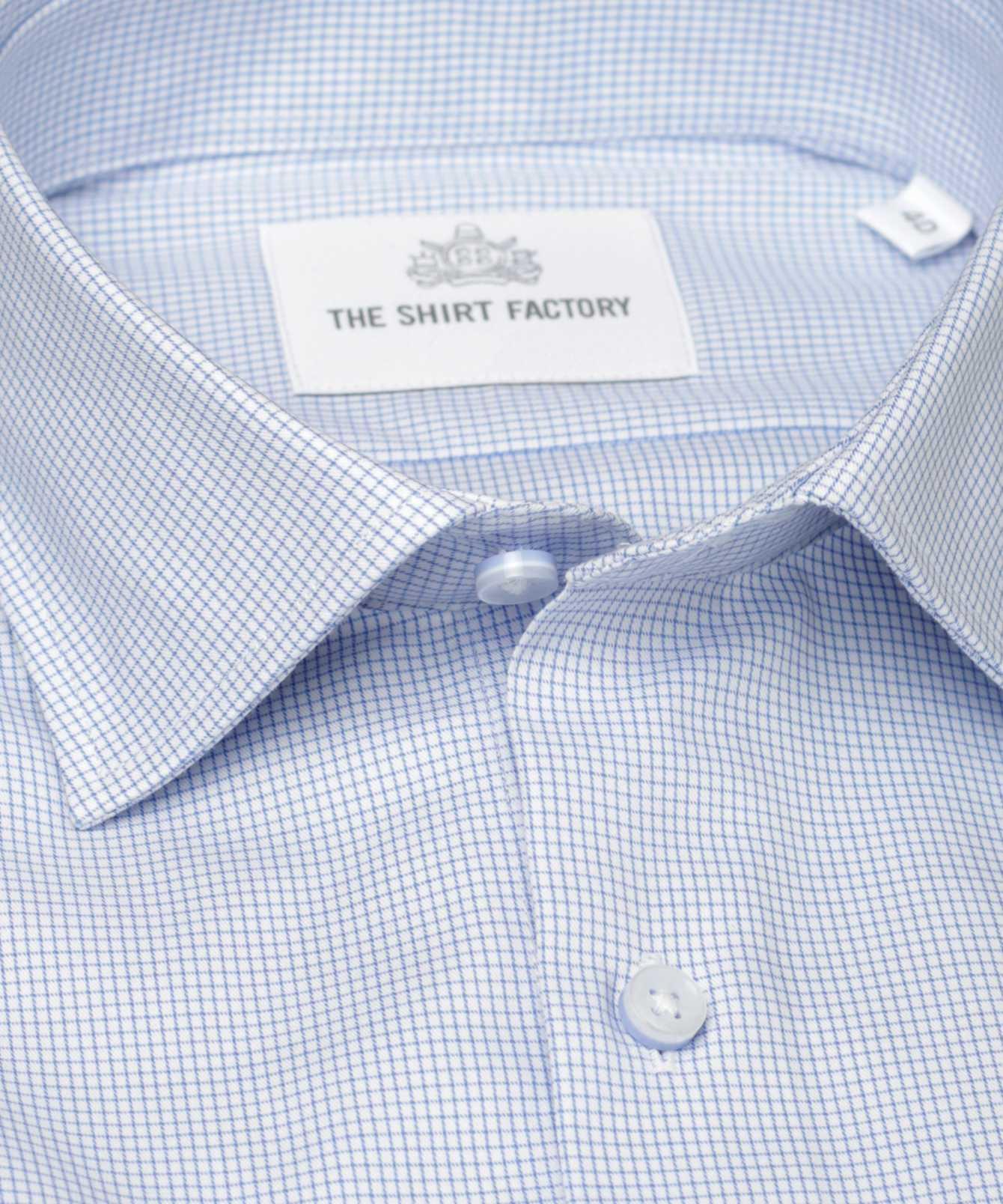 Skjorta Dublin Strykfri Blå The Shirt Factory