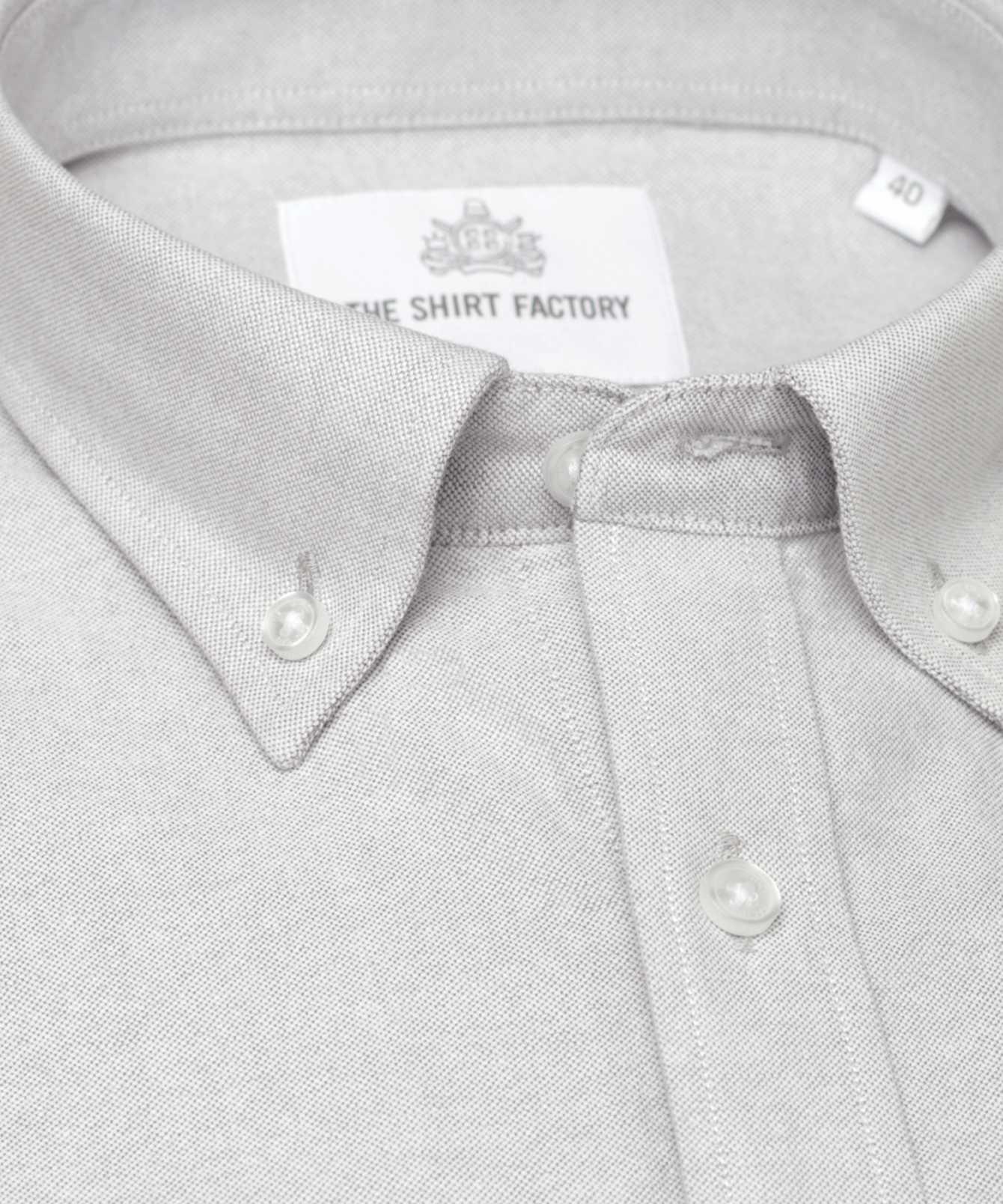 Shirt Hampton Oxford Grå The Shirt Factory