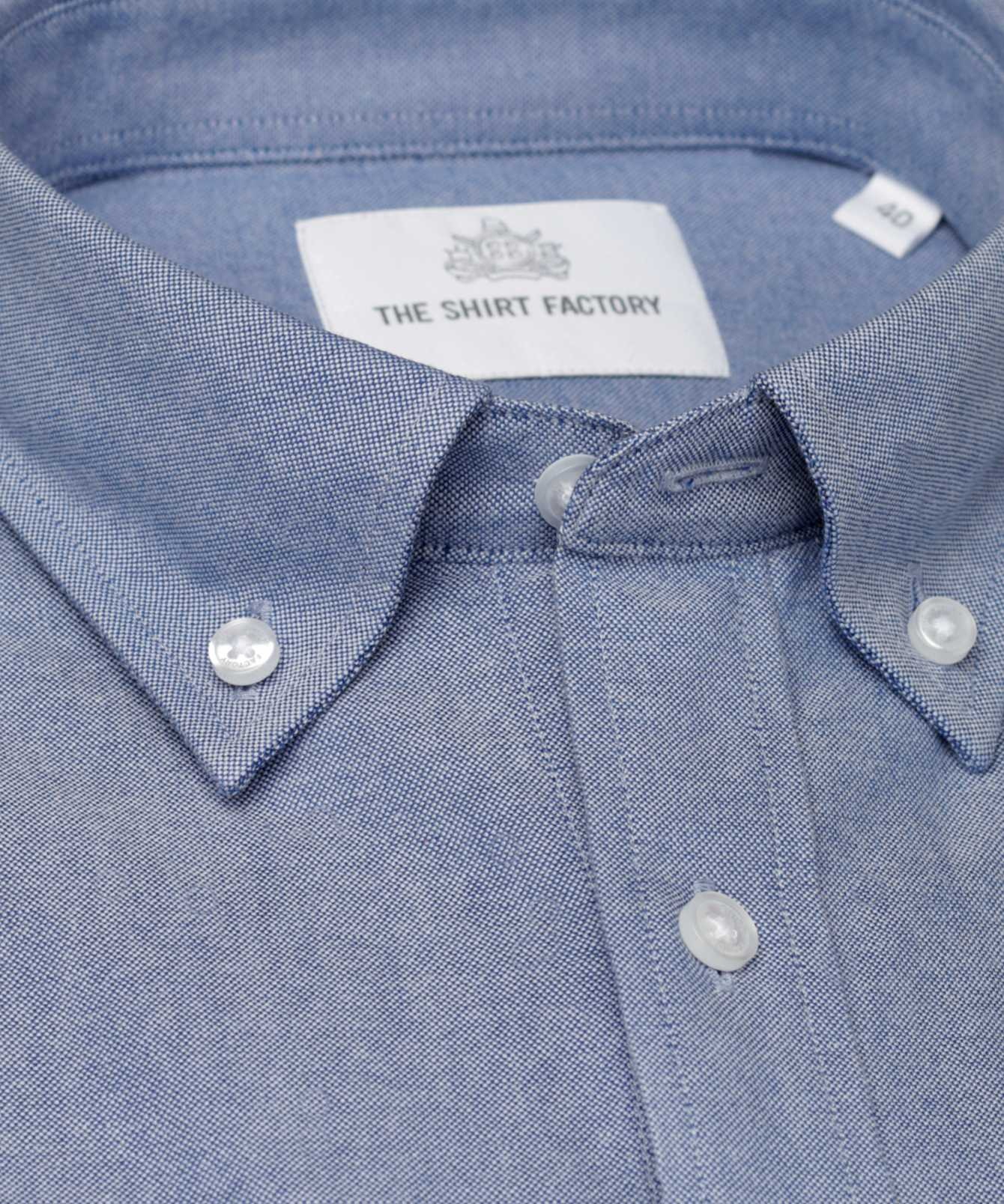 Skjorta Hampton Oxford Blå The Shirt Factory