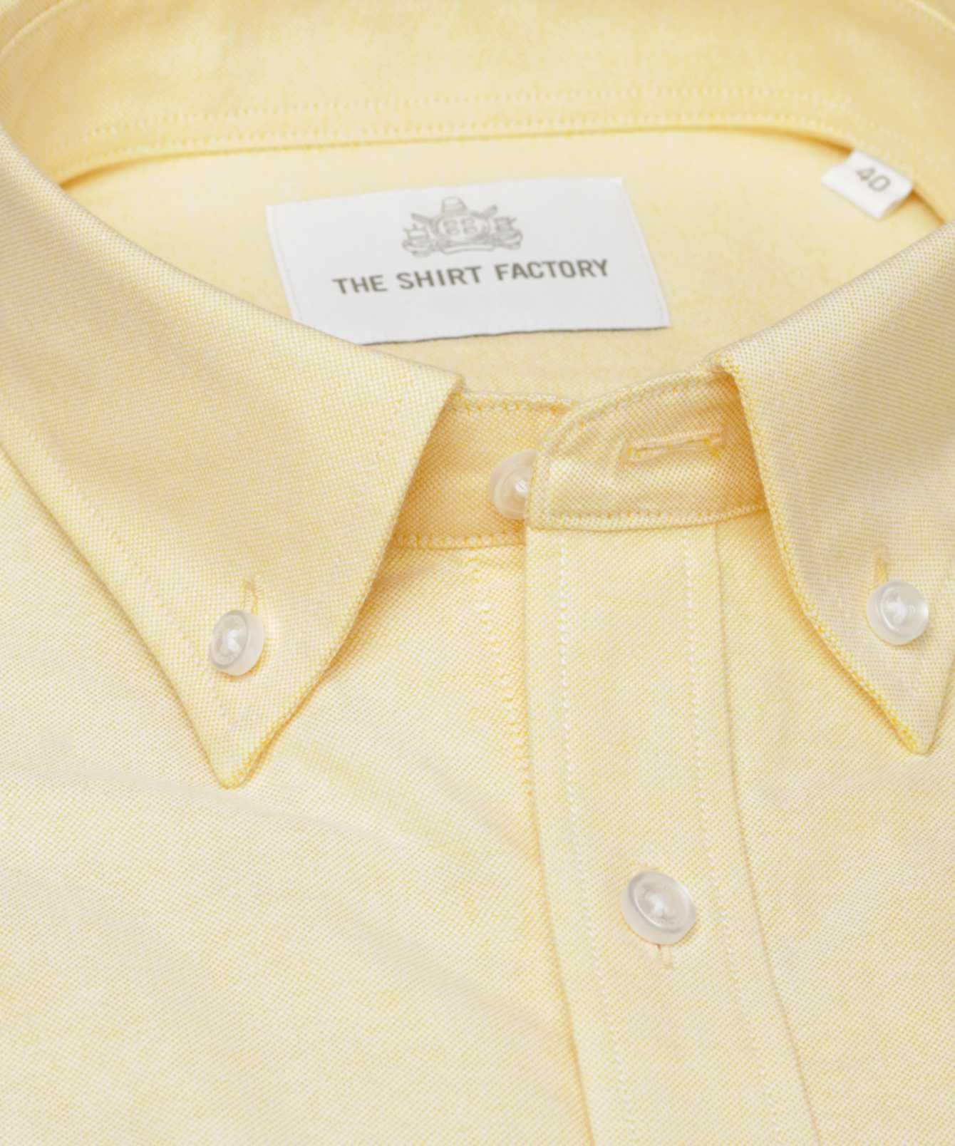 Shirt Hampton Oxford Gul The Shirt Factory