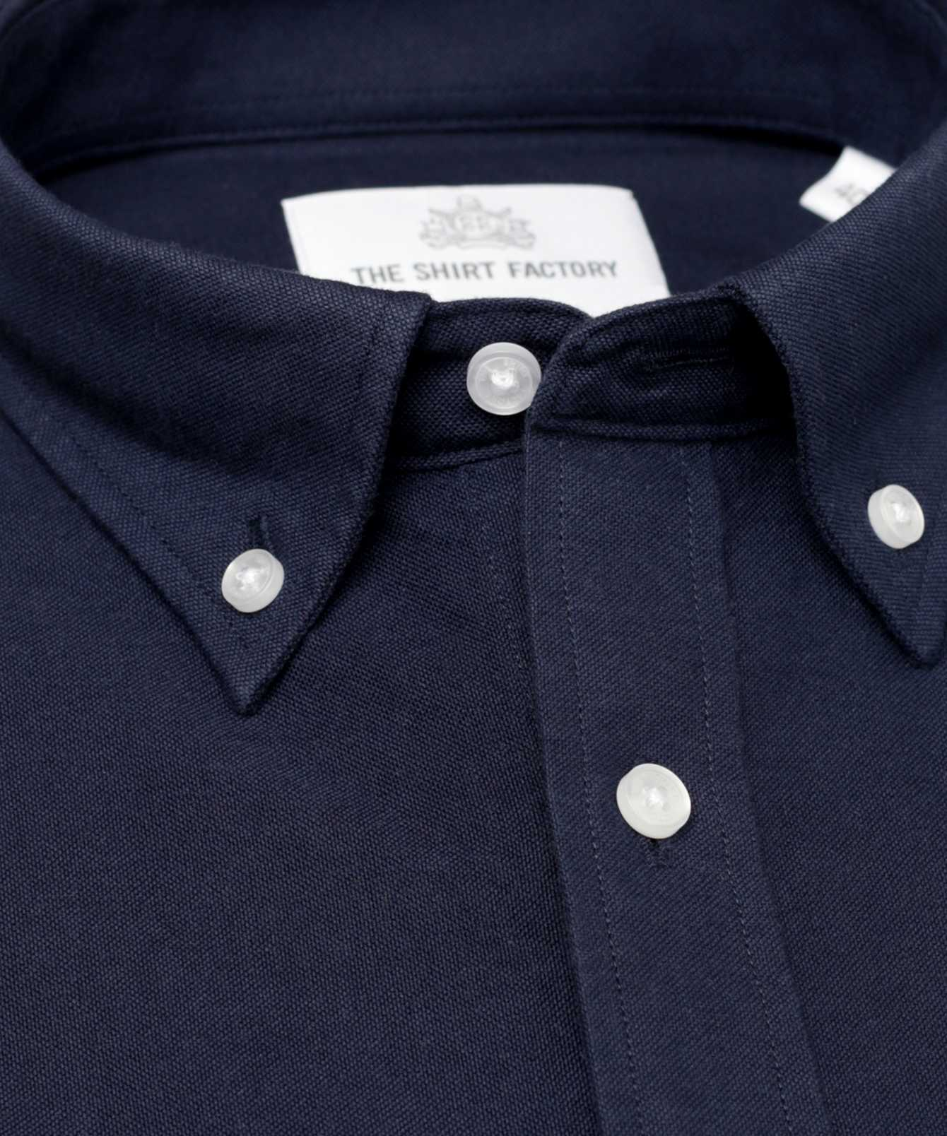 Skjorta Hampton Oxford Navy The Shirt Factory