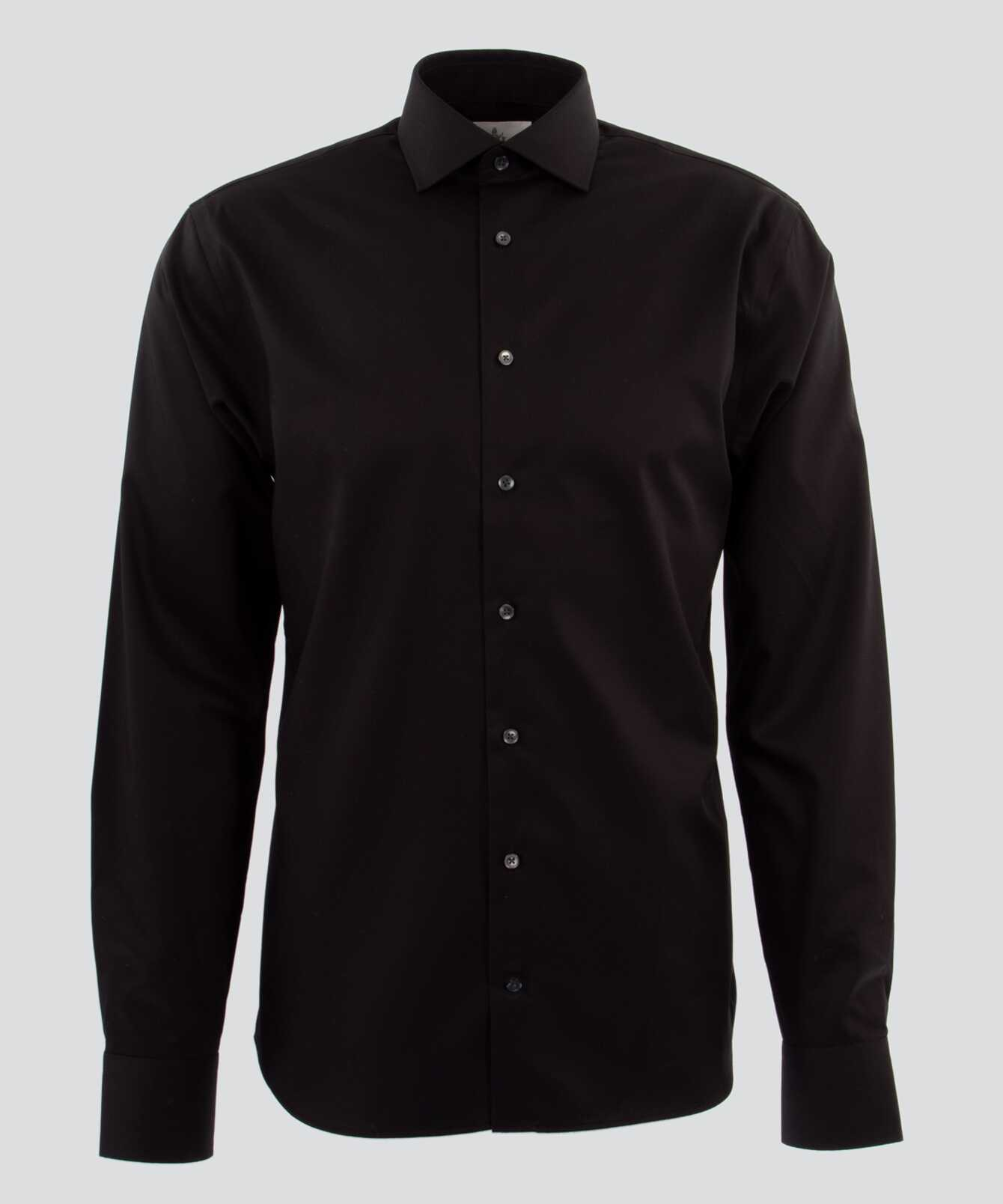 Skjorta Grand Twill Strykfri Svart The Shirt Factory