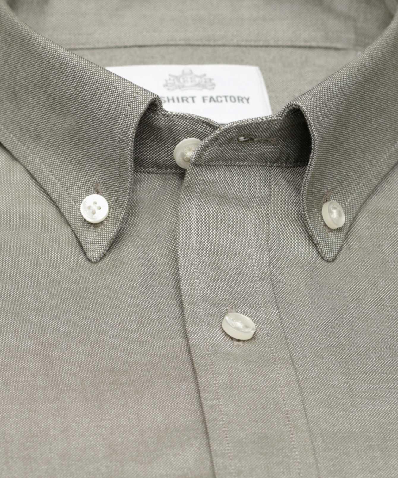 Shirt Hampton Oxford grön The Shirt Factory