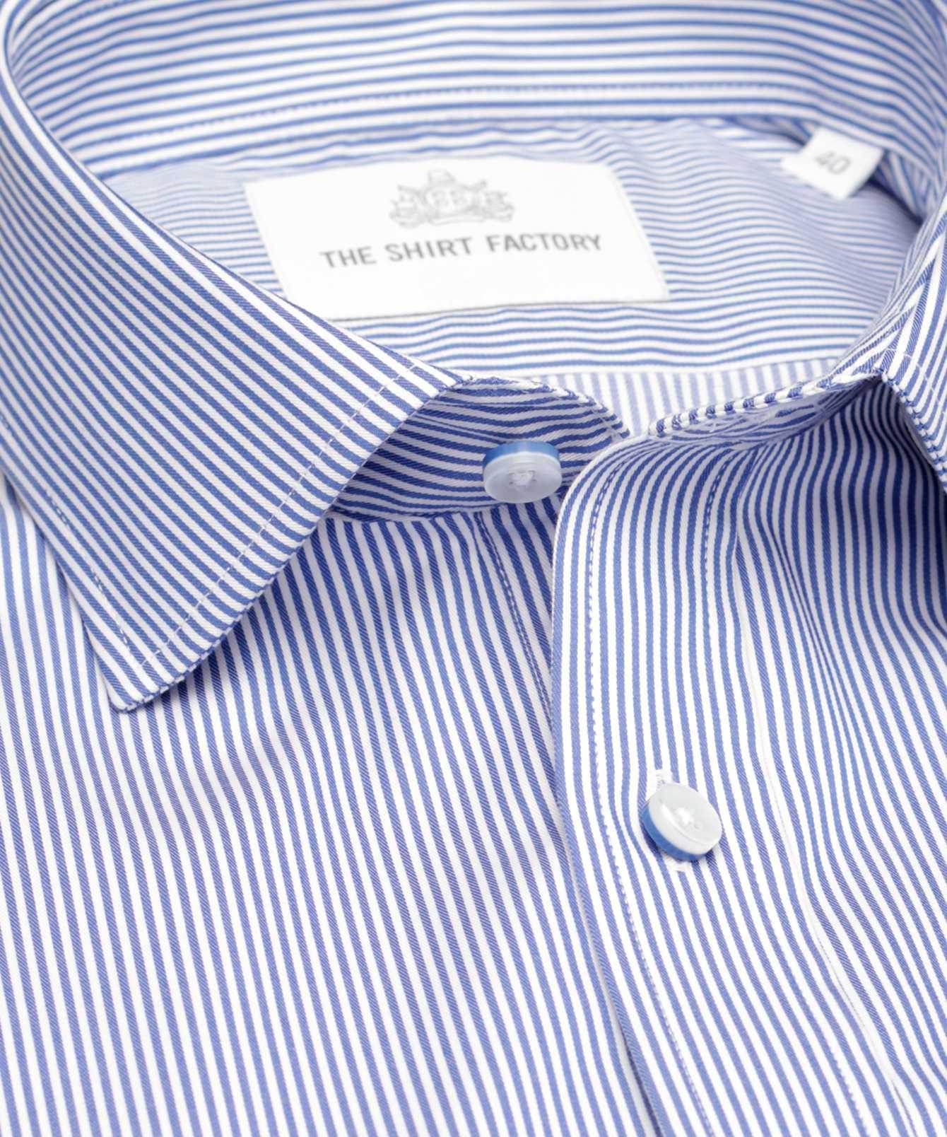 Shirt Wick Strykfri Blå  The Shirt Factory