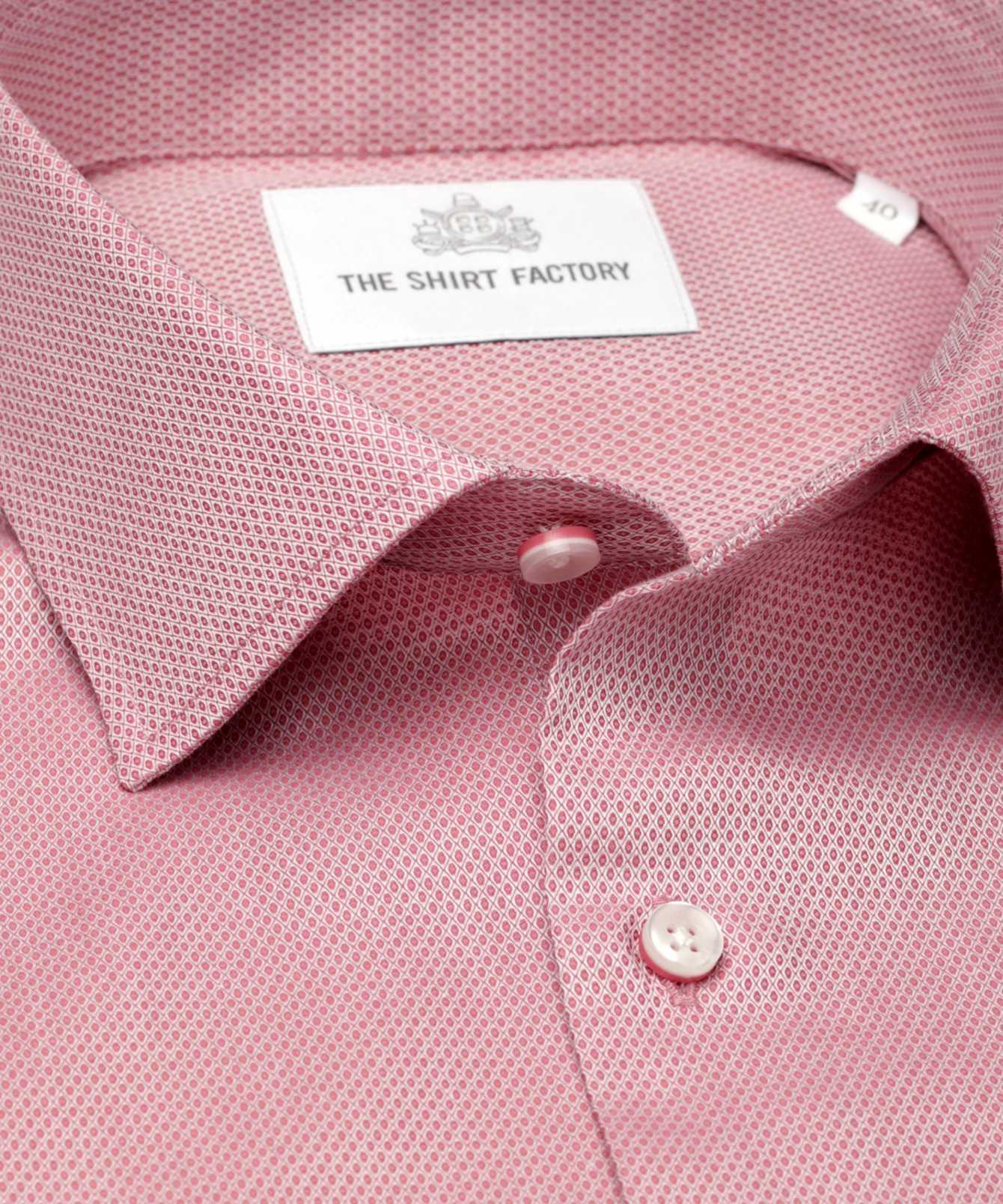 Skjorta Winnipeg Lättstruken röd The Shirt Factory
