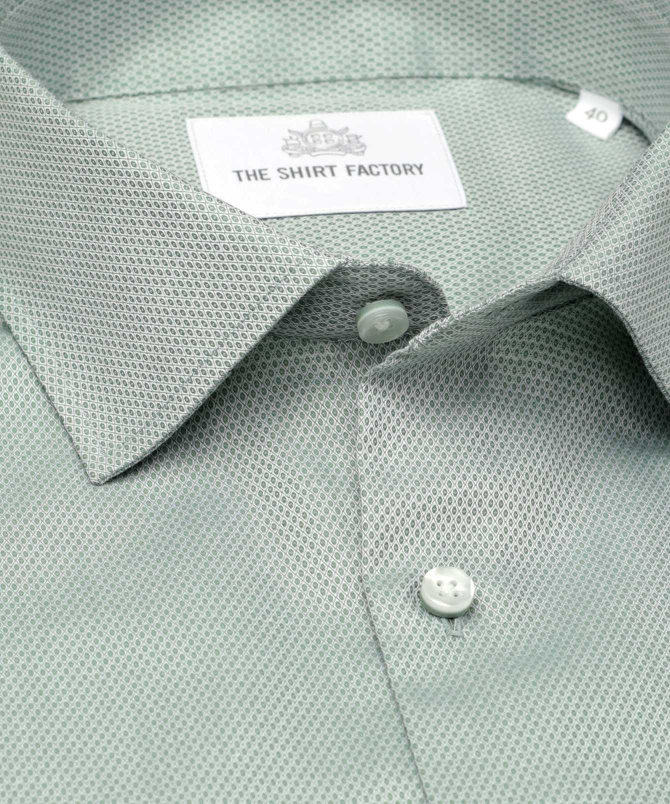 Shirt Winnipeg Lättstruken grön The Shirt Factory