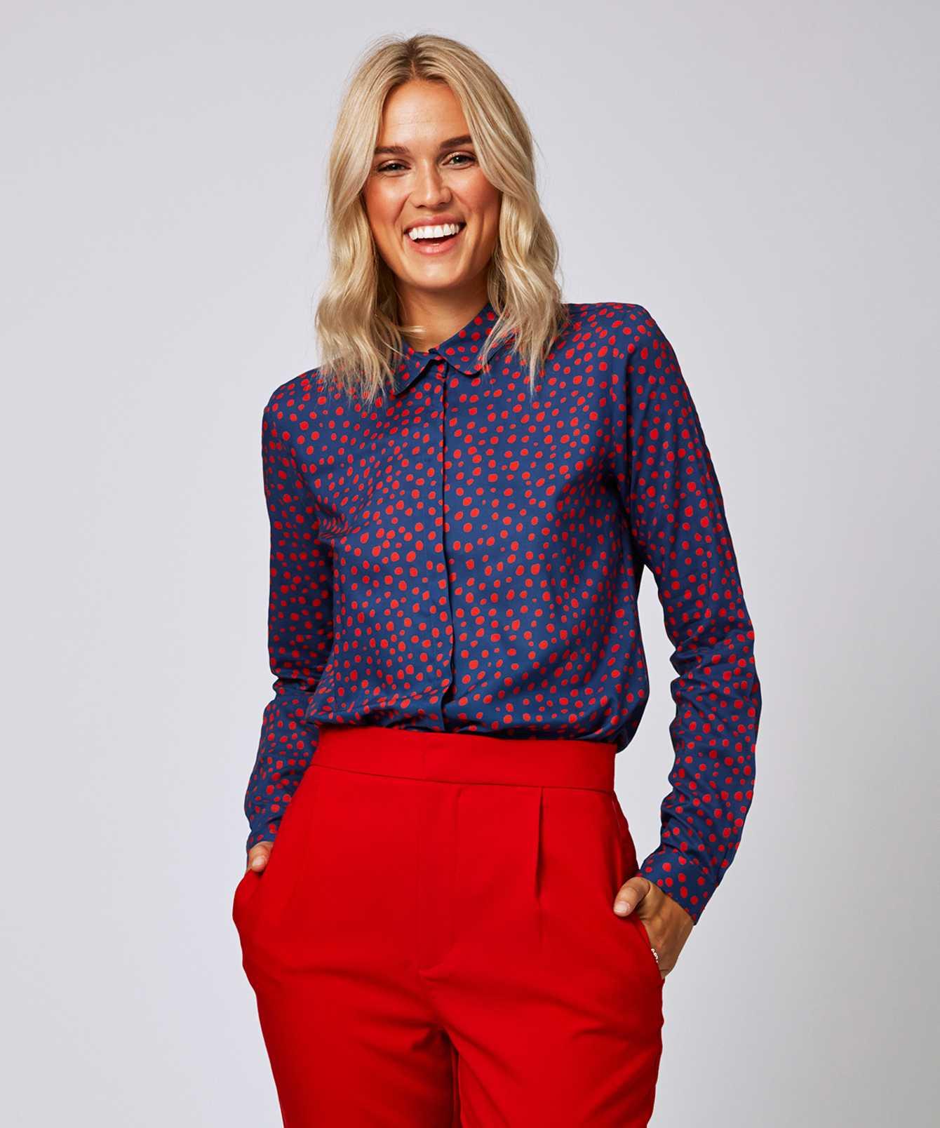 Skjorta Gina Dot  The Shirt Factory