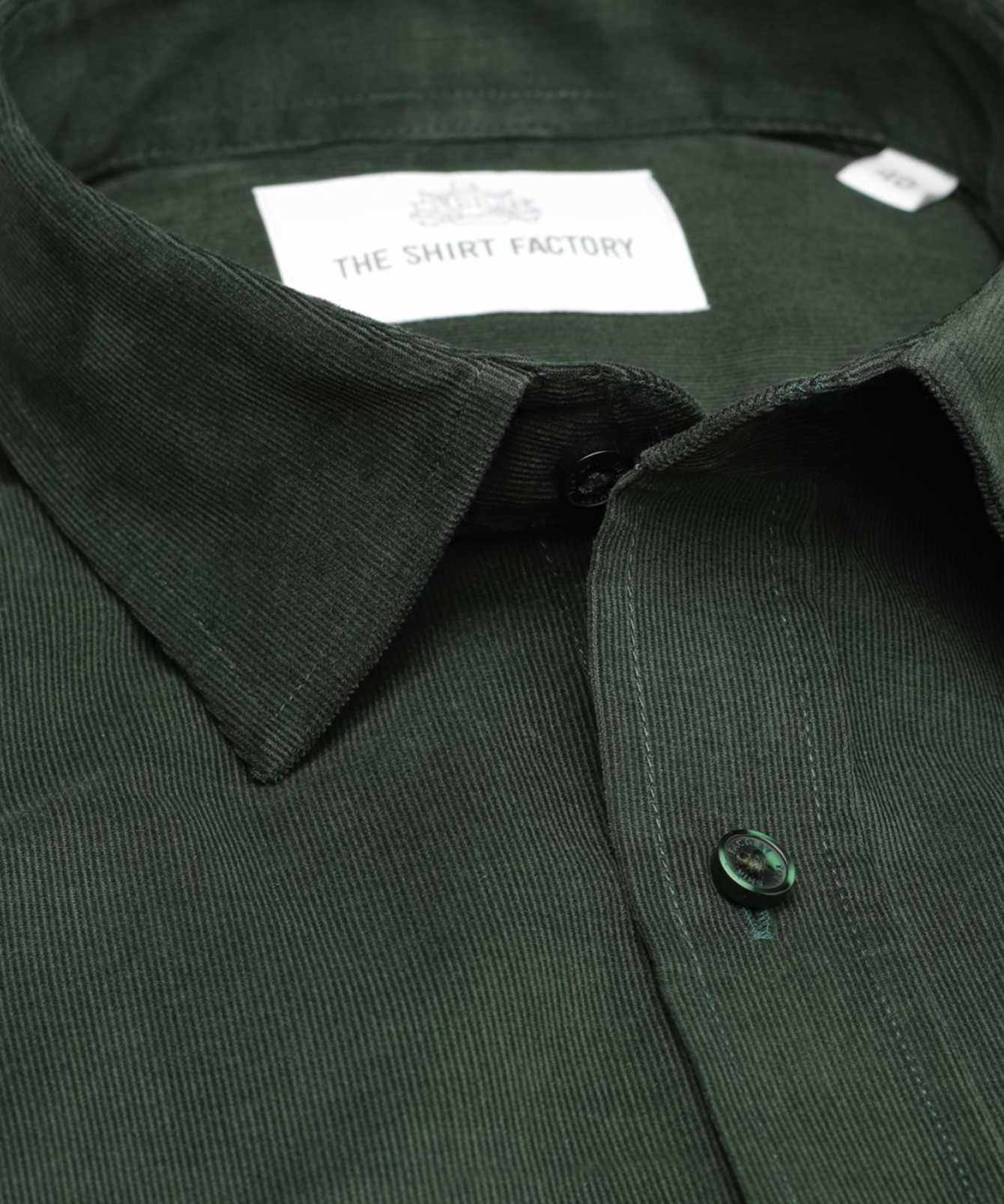 Skjorta Toronto Cord Grön The Shirt Factory