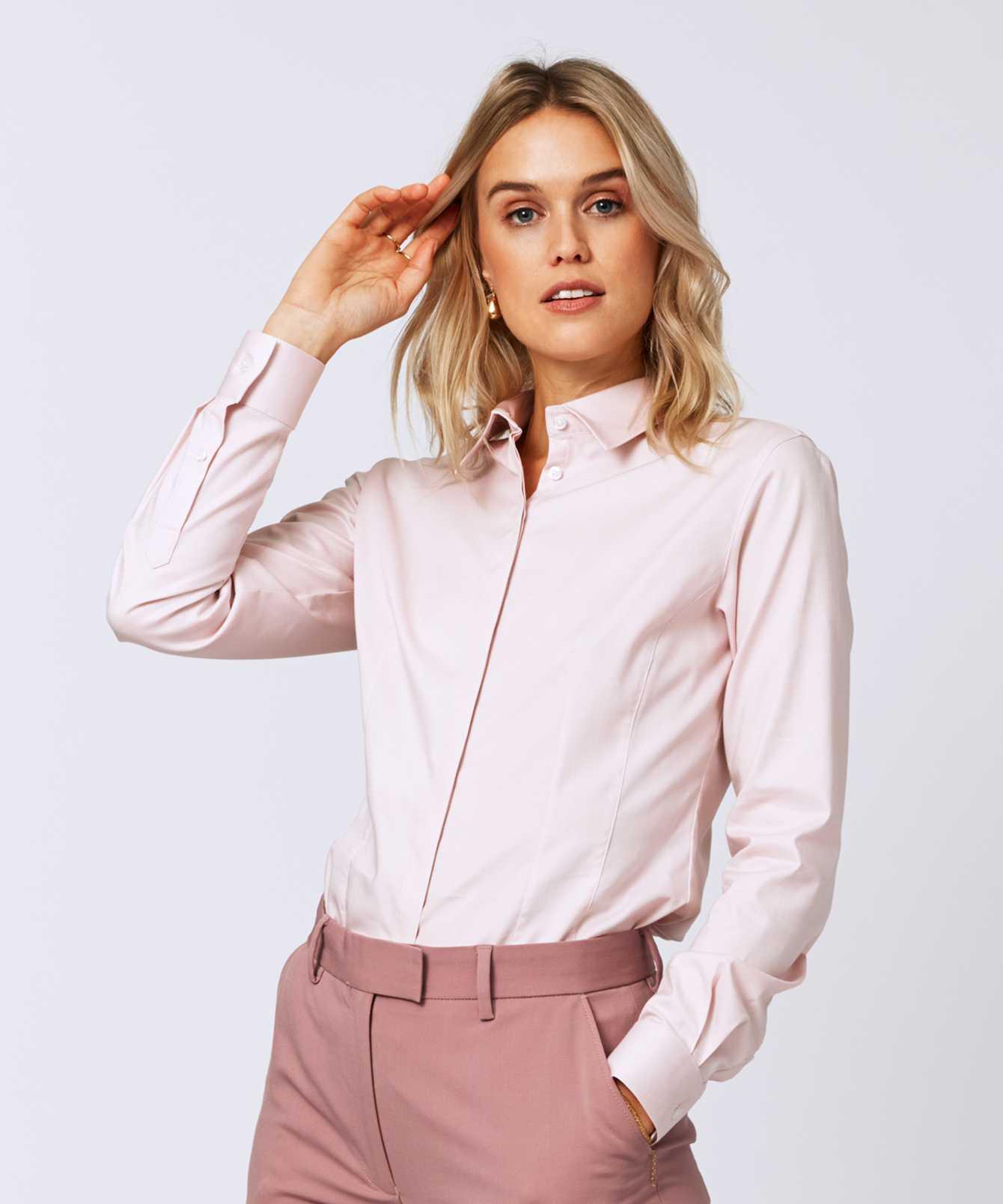 Skjorta Emma Royal Stretch Rosa The Shirt Factory