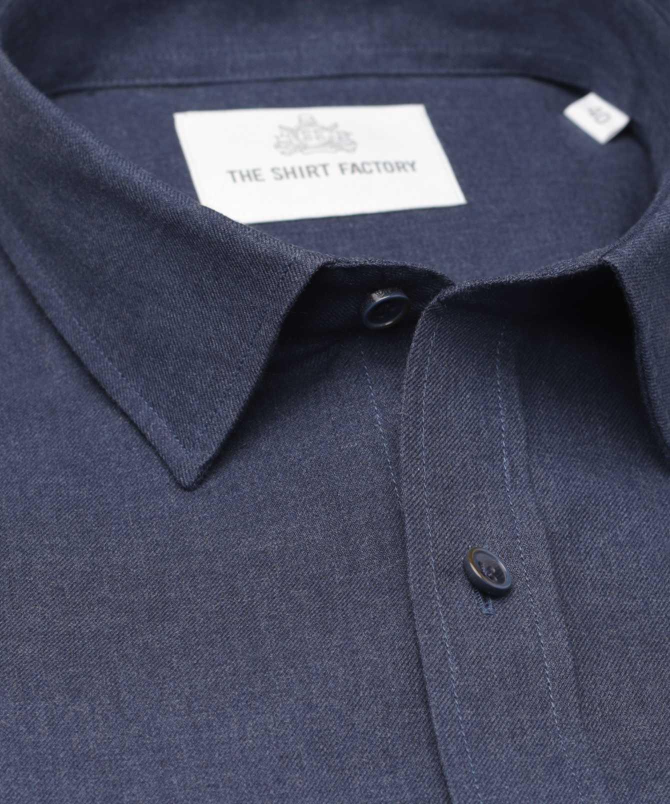 Shirt Costello blå The Shirt Factory