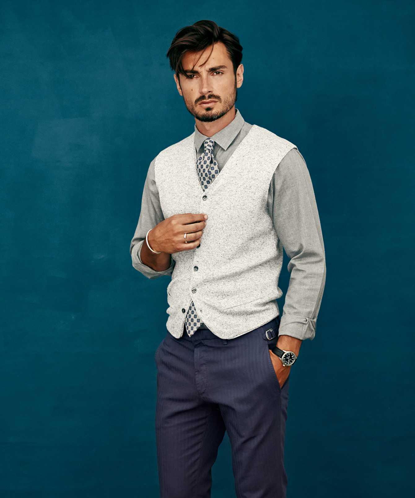 Skjorta Costello ljusgrå The Shirt Factory