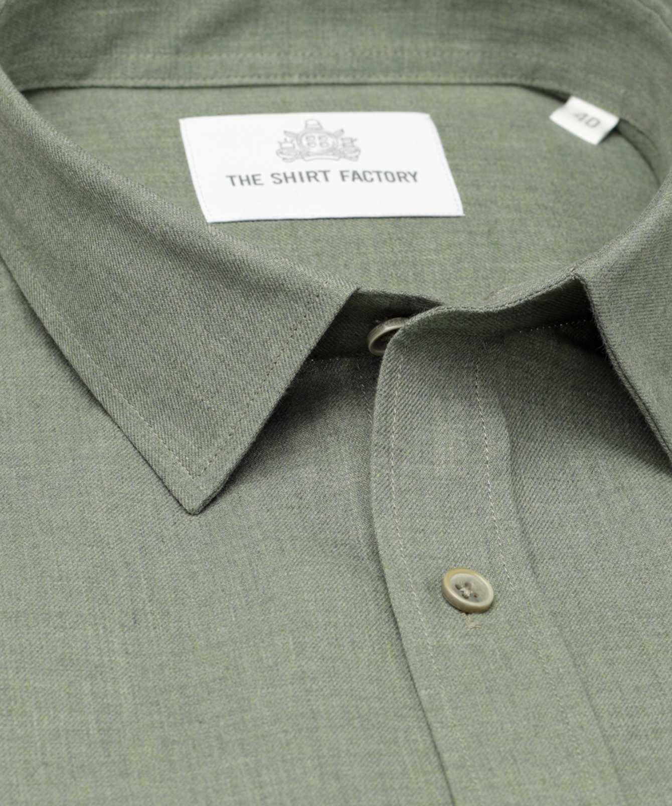 Shirt Costello grön The Shirt Factory