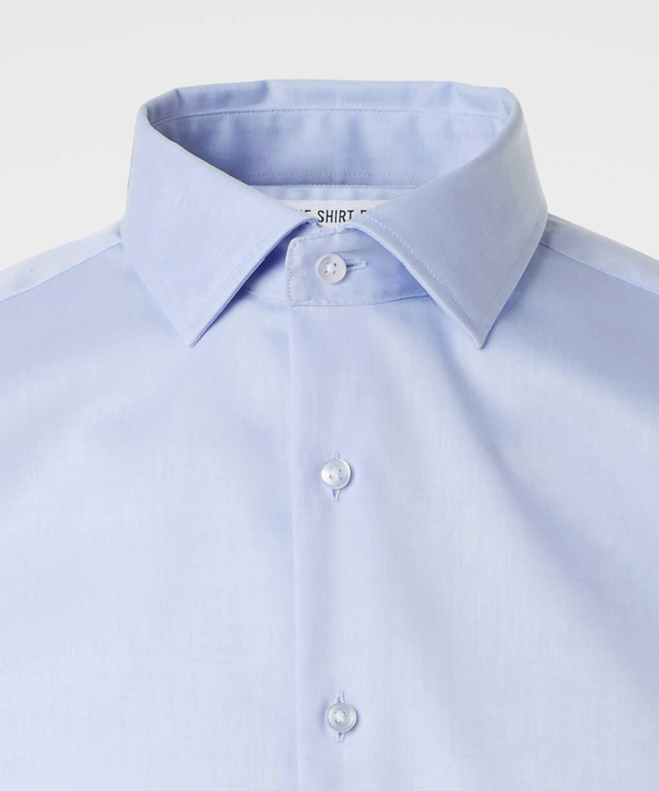 Skjorta Grand Twill Strykfri Ljusblå The Shirt Factory