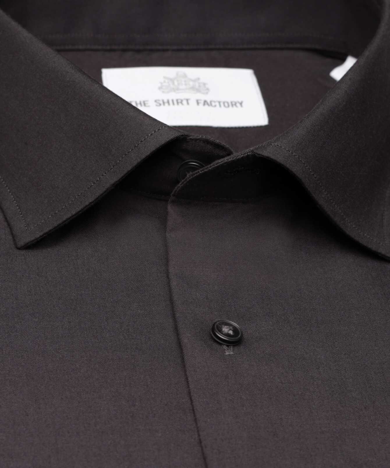 Skjorta Grand Twill Strykfri Mörkgrå The Shirt Factory