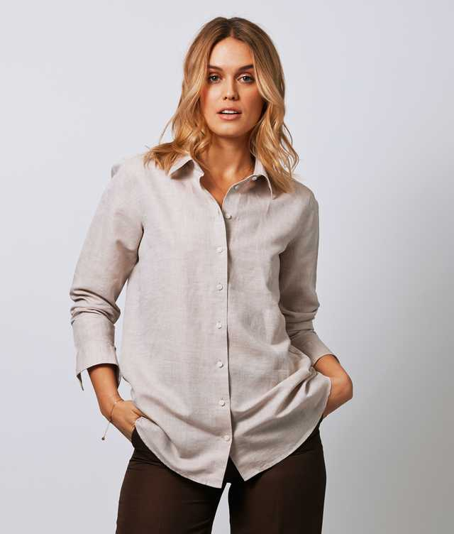 Skjorta Mickan Portofino Beige The Shirt Factory
