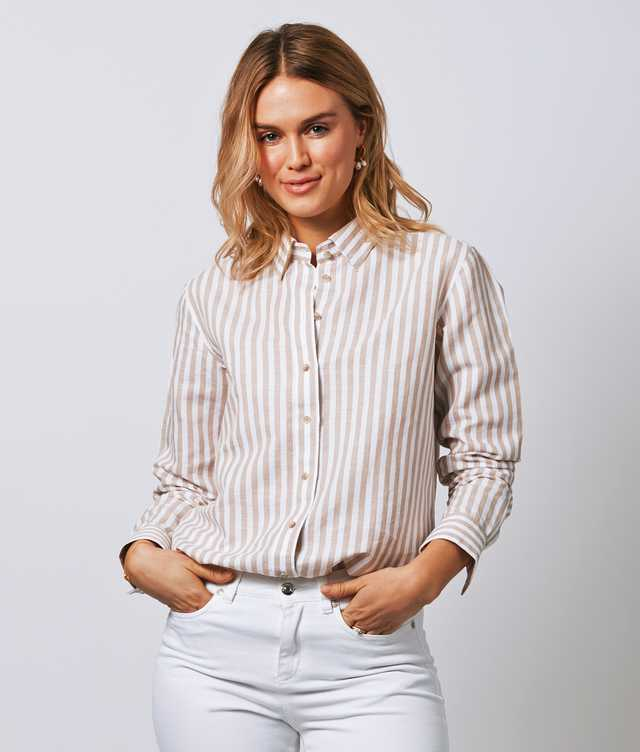 Skjorta Mickan Linen Stripe The Shirt Factory