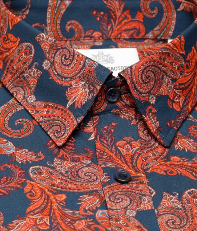 Skjorta Mahogny Paisley The Shirt Factory
