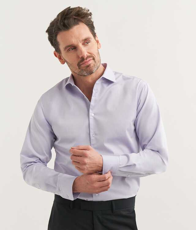 Shirt Grand Twill Lilac The Shirt Factory