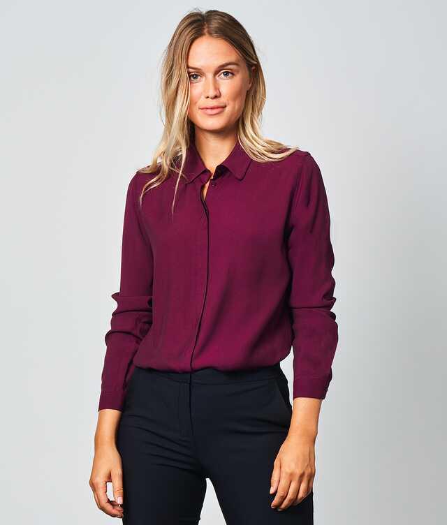 Skjorta Gina Verona Vinröd The Shirt Factory