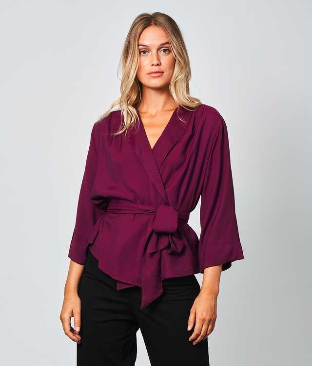 Skjorta Alba Verona Vinröd  The Shirt Factory
