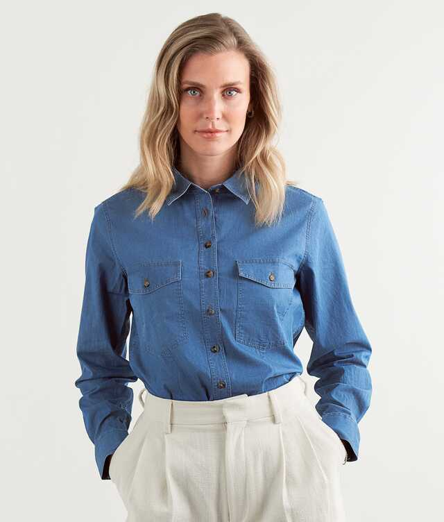 Skjorta Agnes Brillo Denim The Shirt Factory