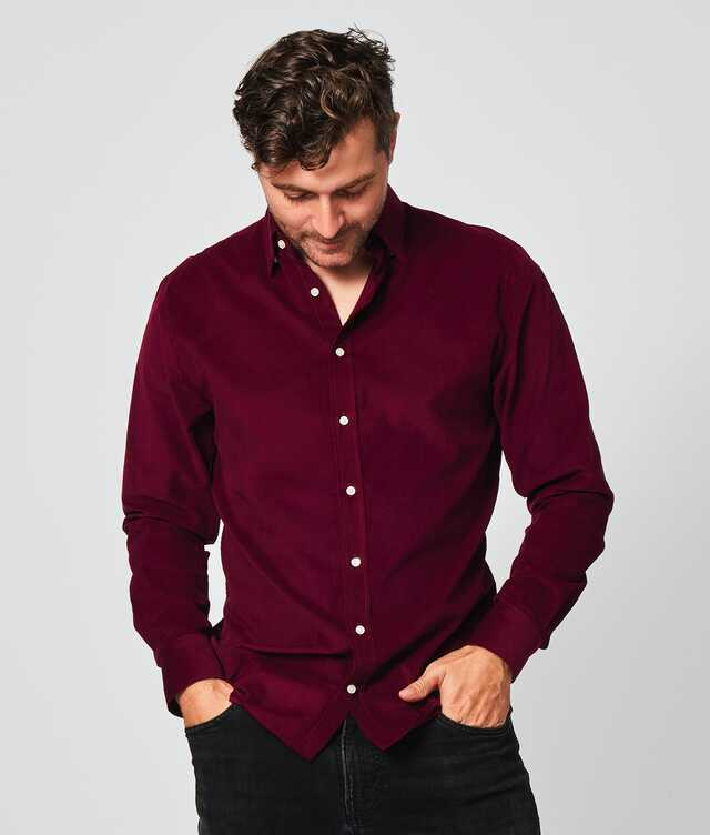 Shirt Toronto Cord Burgundy The Shirt Factory