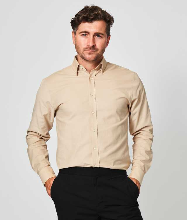 Skjorta Toronto Cord Beige The Shirt Factory