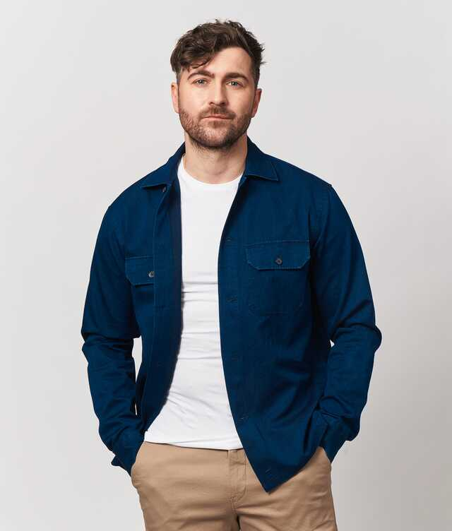 Skjorta Indigo Overshirt The Shirt Factory
