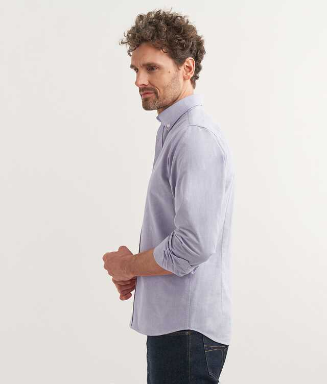 Slim fit - Boston Oxford Lila