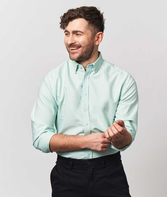Shirt Boston Oxford Lightgreen The Shirt Factory