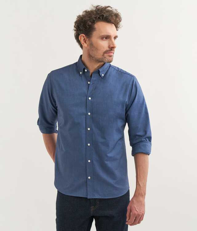 Slim fit - Boston Oxford Ocean Blue
