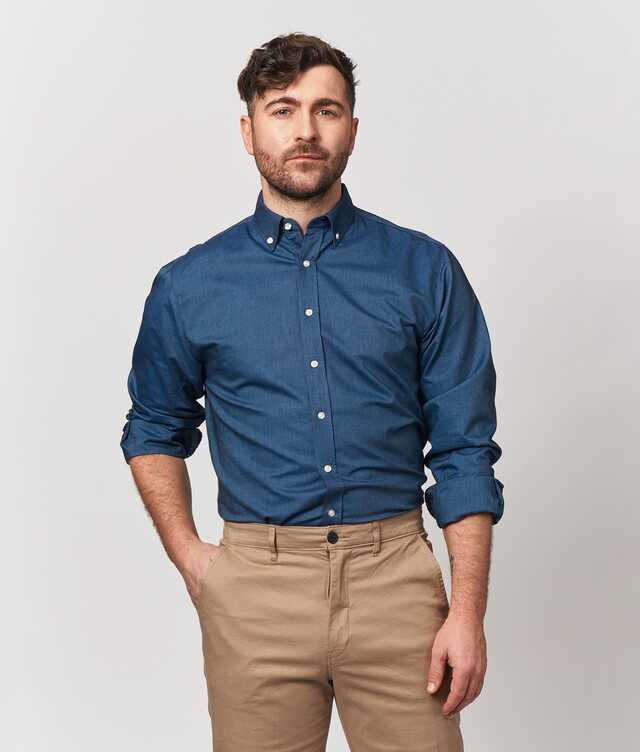 Shirt Boston Oxford Ocean Blue The Shirt Factory