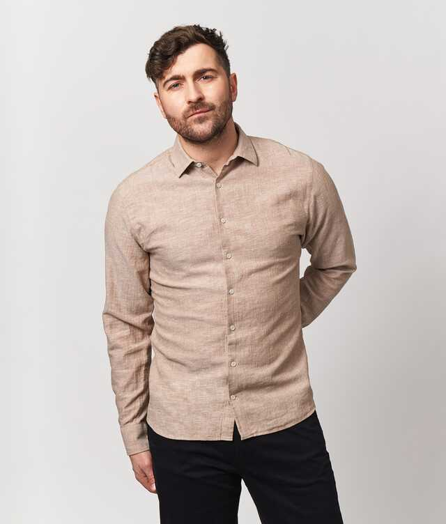Skjorta Webster Beige The Shirt Factory