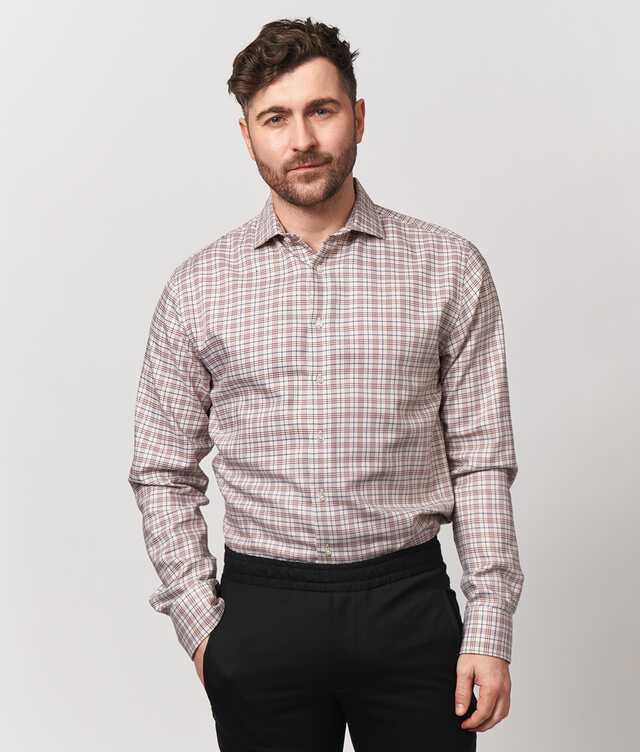 Skjorta Wilson Beige Extra Lång Ärm The Shirt Factory