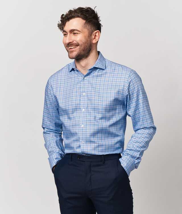 Skjorta Wilson Blå Extra Lång Ärm The Shirt Factory