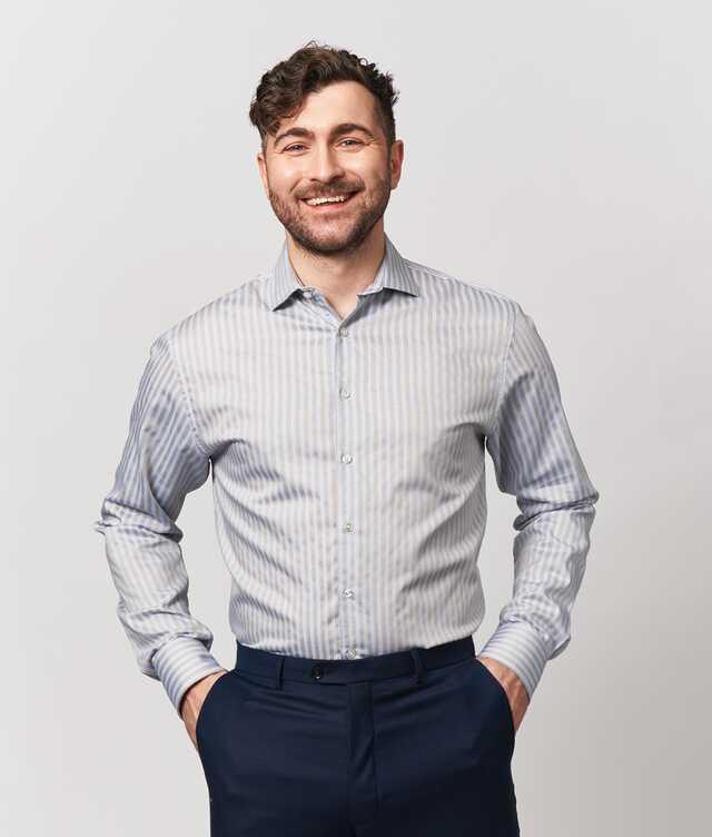 Regular fit - Bandon Stripe Beige