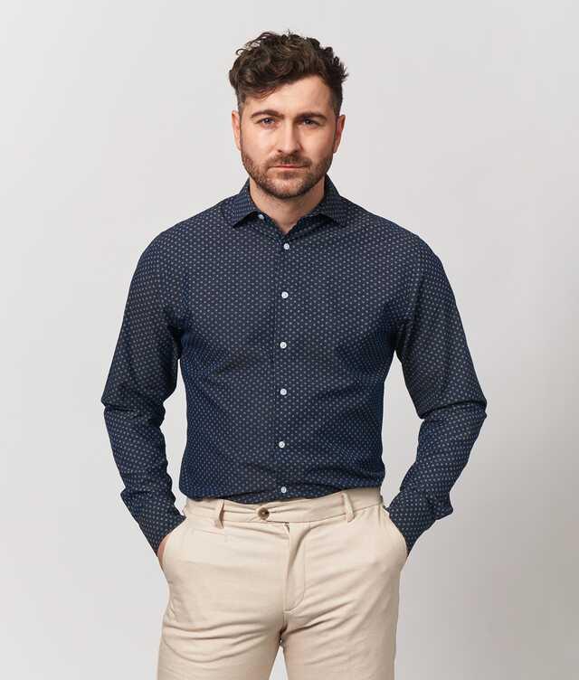 Skjorta Fairfield Extra Lång Ärm The Shirt Factory
