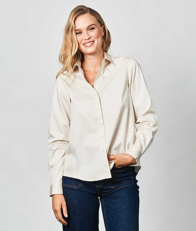 Shirt Gloria Cotton Poplin Off White The Shirt Factory