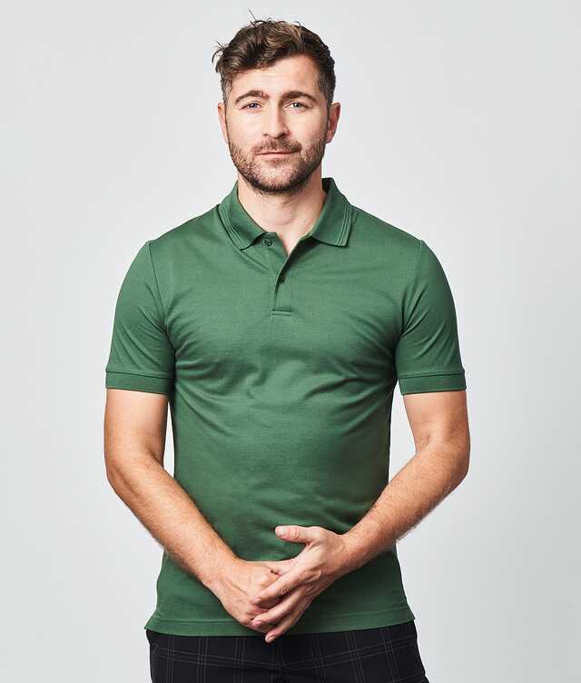 IK - Mercerized polo shirt green