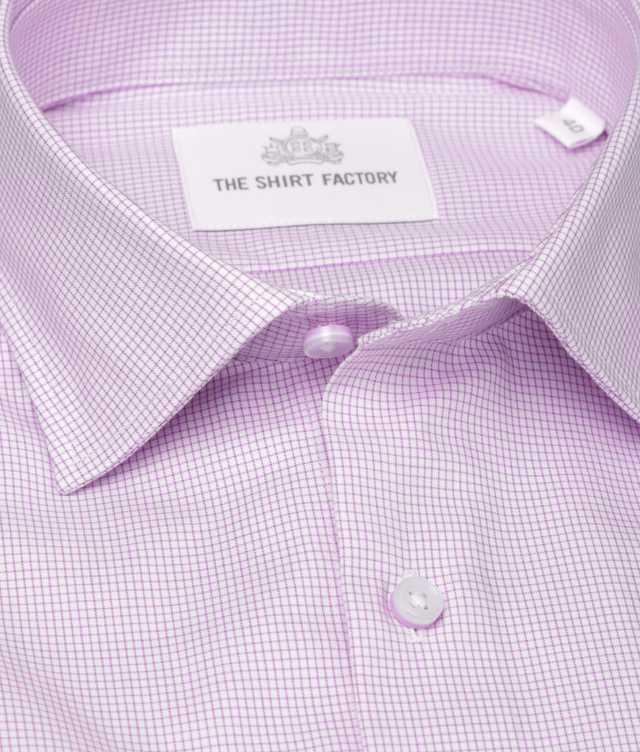 Skjorta Dublin Strykfri Lila The Shirt Factory