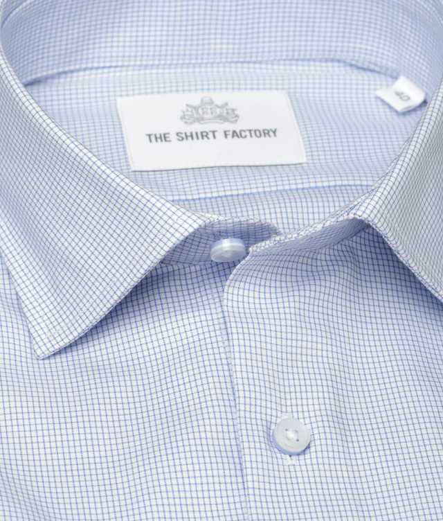 Shirt Dublin Strykfri Blå The Shirt Factory