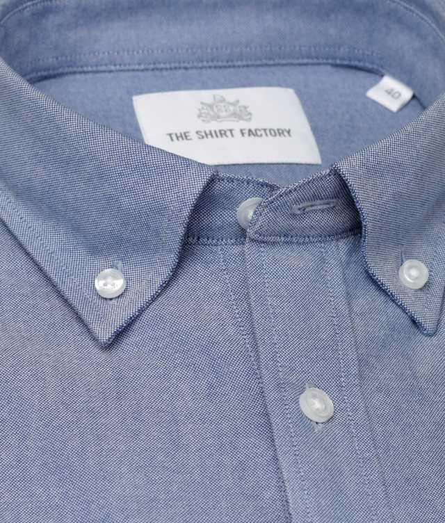Skjorta Hampton Oxford Blå The Shirt Factory
